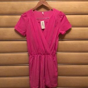 Sage Hot pink romper size small